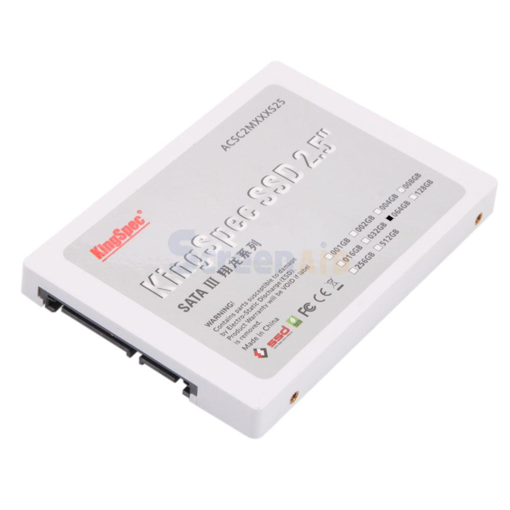 SATA 3 KingSpec 64GB SSD Solid-State Hard Disk Drive 2.5