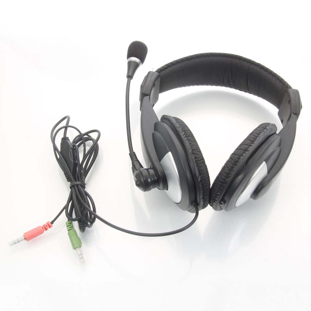Microphone To Pc Adapter : New mm jack gaming headset headphone microphone for